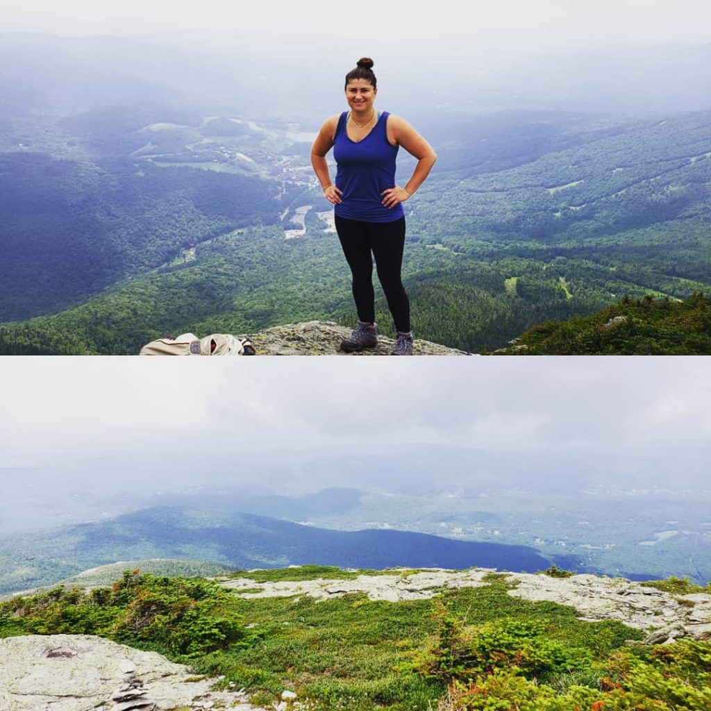 Nicole Torrey on Mount Mansfield